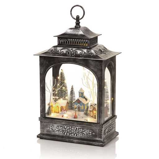 Christmas Lantern with Musical Rotating Village Scene