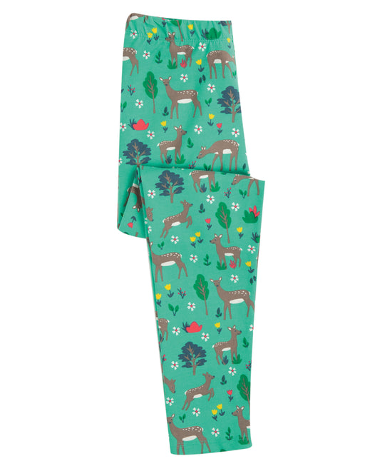 Frugi Libby Printed Leggings, Rabbit Fields