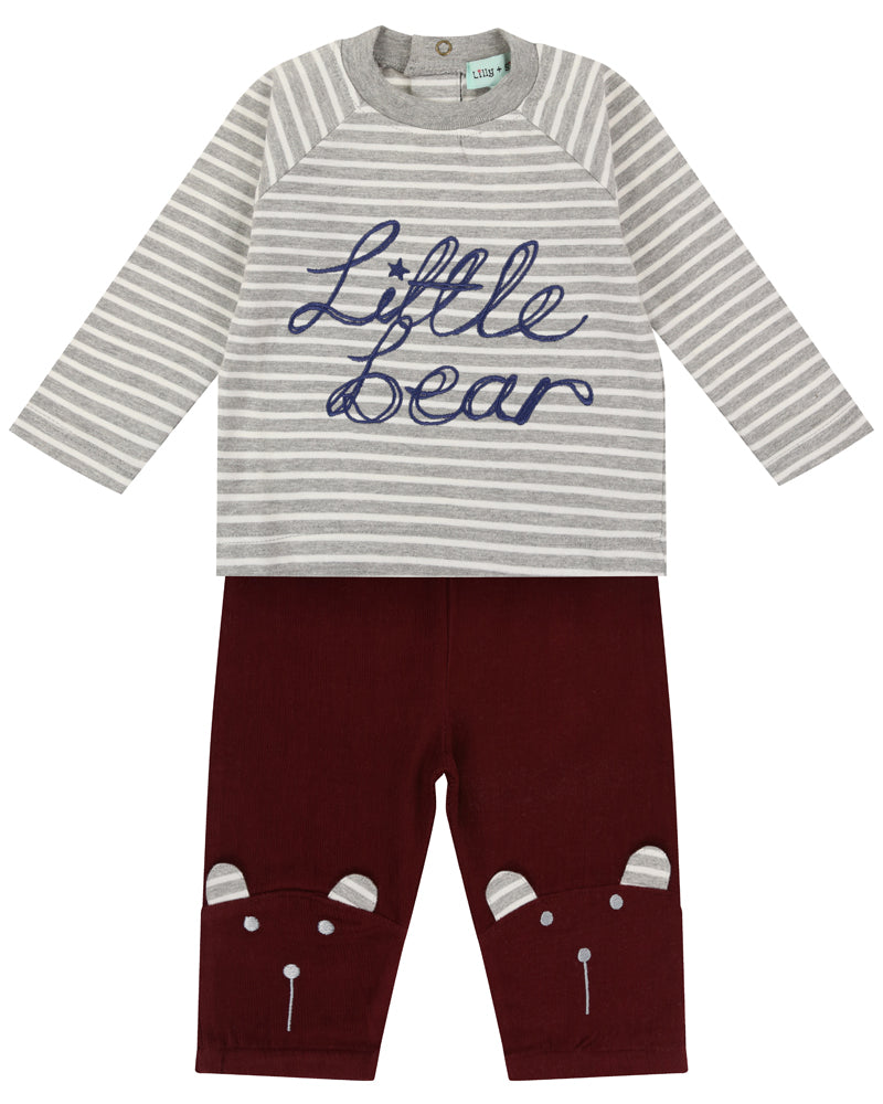 Lilly & Sid Character Knee Little Bear Set