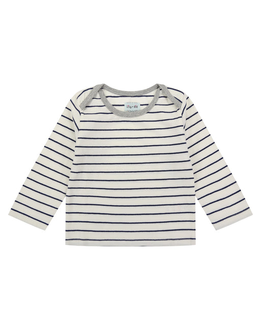 Lilly & Sid Grey Stripe Top