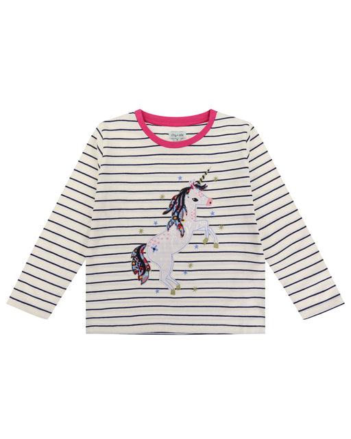 Lilly & Sid Applique Unicorn Top
