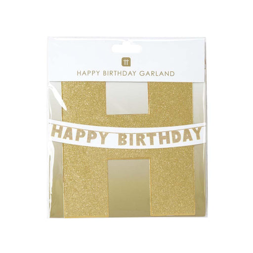 Talking Tables Luxe Gold Happy Birthday Garland