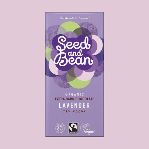 Seed & Bean Lavender Extra Dark Chocolate Bar