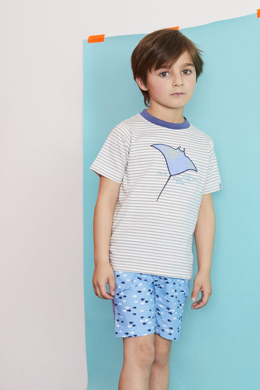 Lilly & Sid Applique T-Stingray