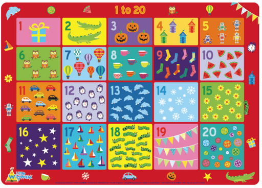 Little Wigwam 1 to 20 Placemat