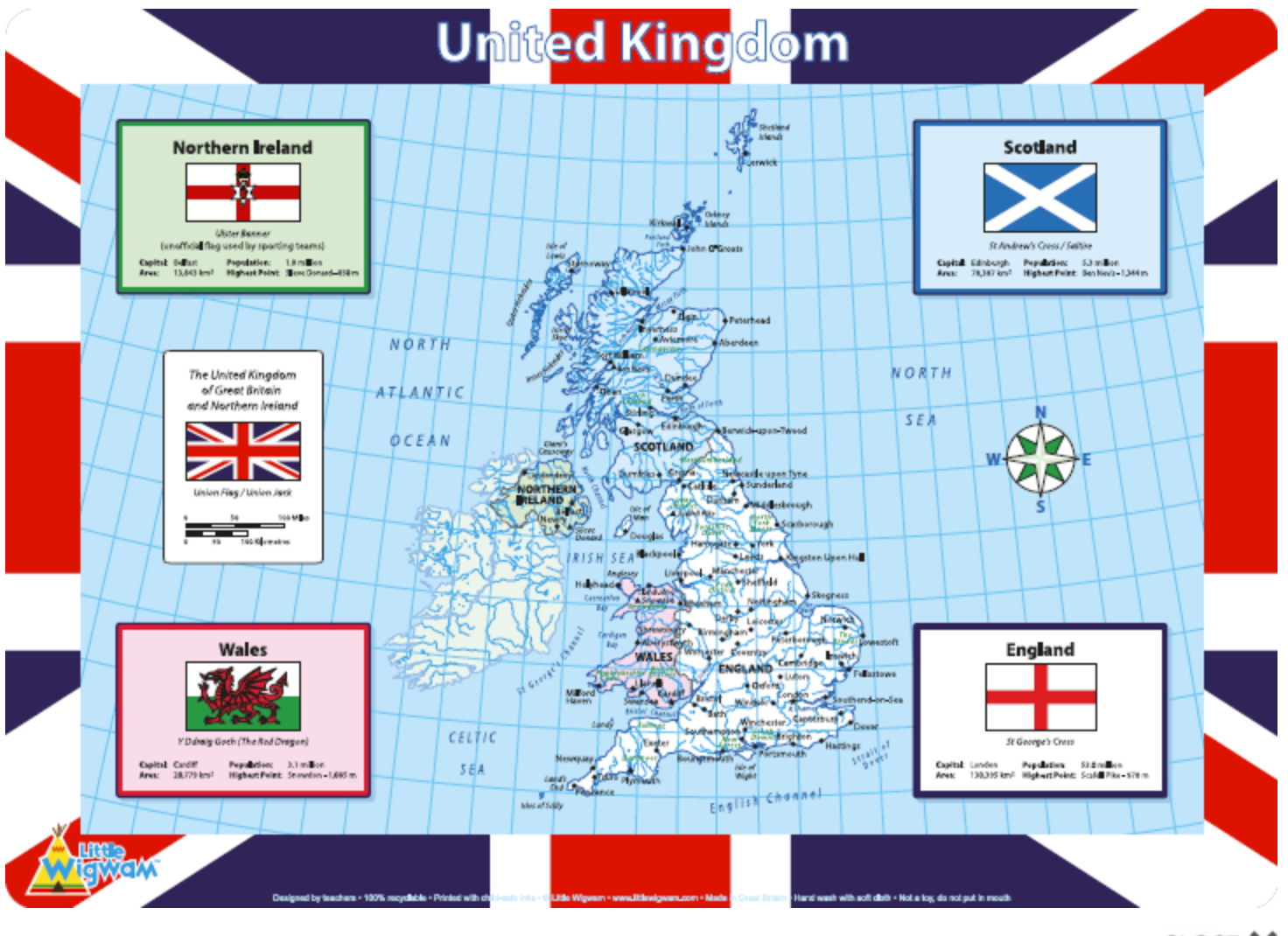 Little Wigwam United Kingdom Placemat