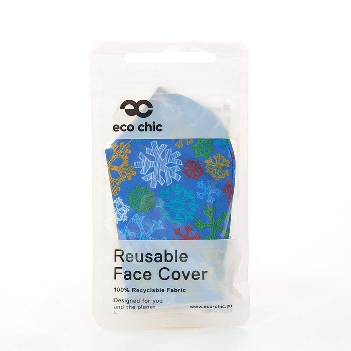 Eco Chic Reusable Face Cover Snowflakes