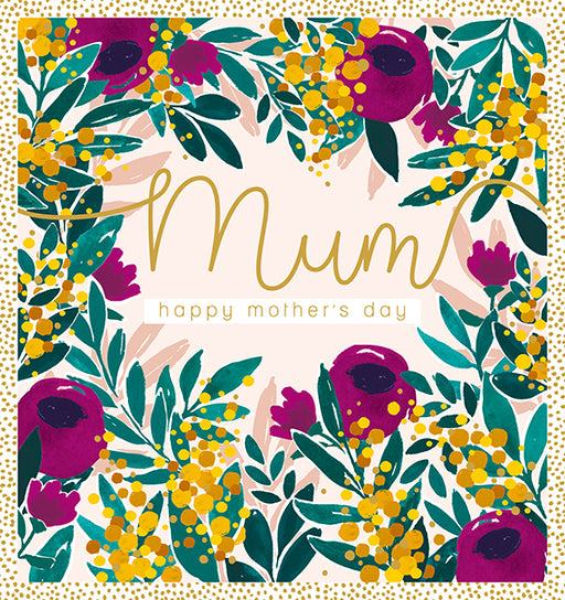 Floral Mum Happy Mother's Day Card