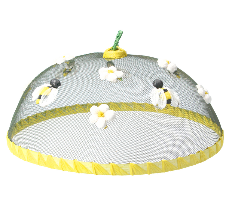 Gisela Graham Bee and Flower Raffia Mesh Food Cover