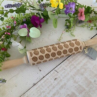 Gisela Graham Egg Press Rolling Pin