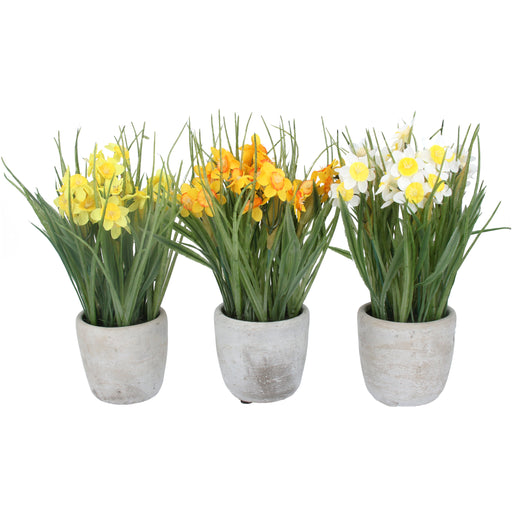 Gisela Graham Faux Daffodils in Pot