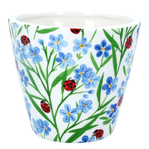 Gisela Graham Forget Me Not Ladybird Ceramic Pot Cover