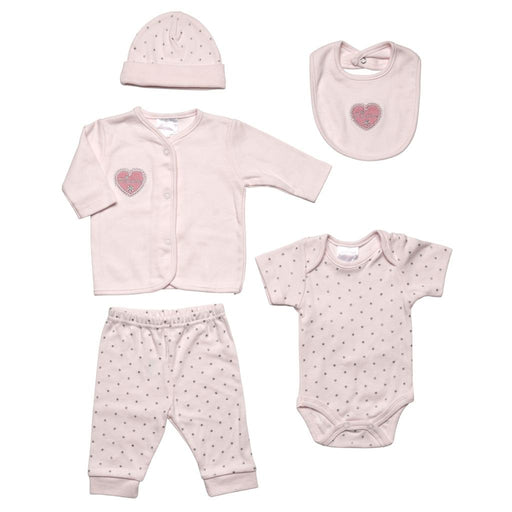 Heart Pink 5 Piece Set