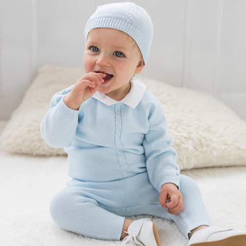 Noah Boys Knit Two Piece & Hat Outfit