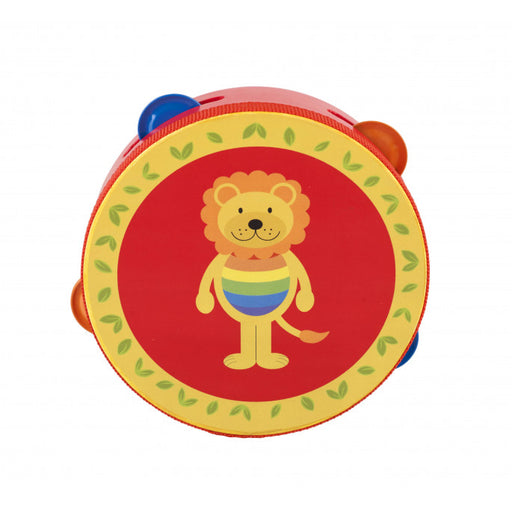 Orange Tree Lion Tambourine