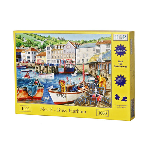 HOP Busy Harbour 1000 Piece Jigsaw Puzzle