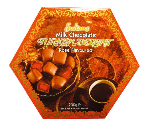 Sultans Milk Chocolate Turkish Delight Rose Flavour