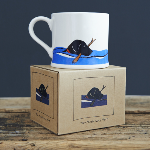 Sweet William Swimming Black Labrador Mug