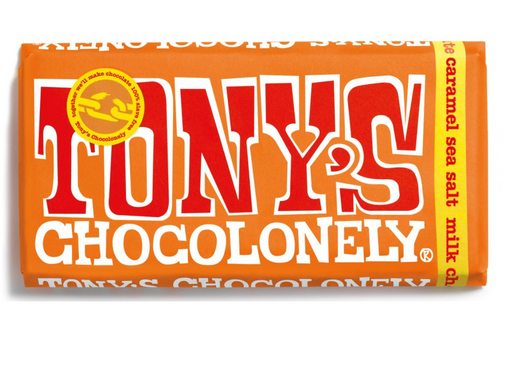 Tony's Chocolonely Milk Caramel Sea Salt - Dated 6/6/2020