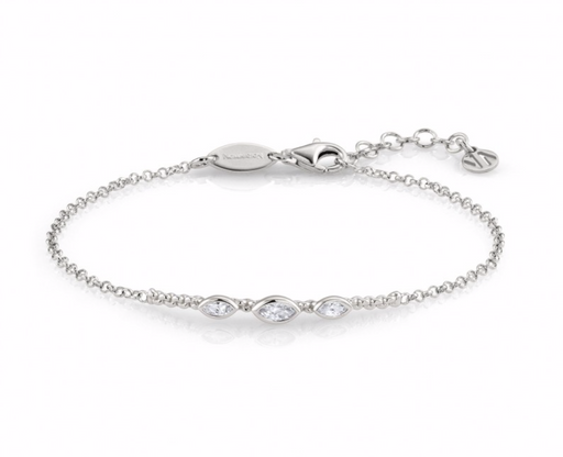Nomination Bella Sterling Silver with Three Ovals Bracelet