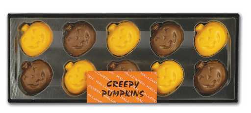 Halloween Hand Decorated Chocolate Creepy Pumpkins