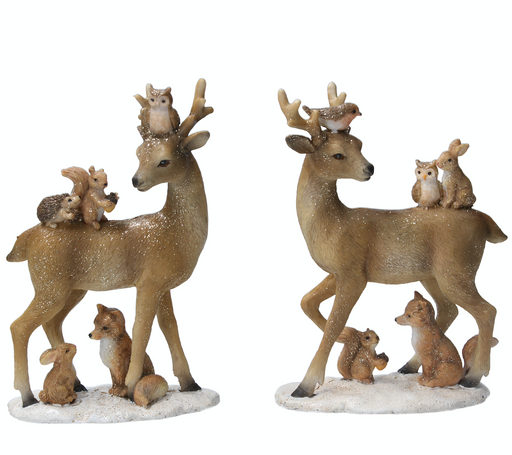 Gisela GrahamResin Stag with Animals Ornament