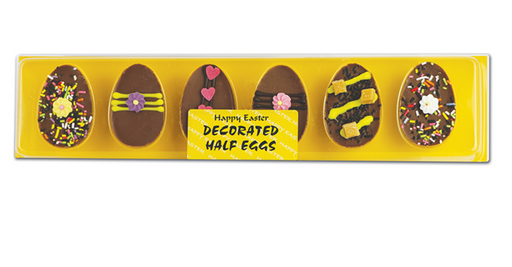 Easter Decorated Half Eggs