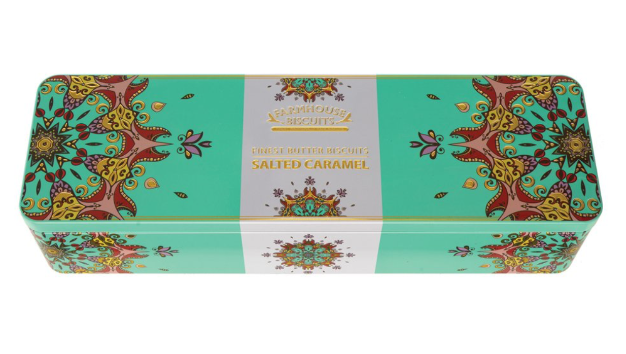 Kensington Gift Tin with Salted Caramel Biscuits