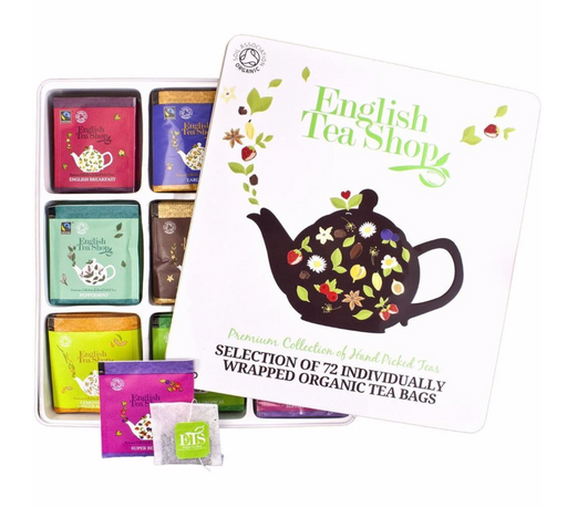 English Tea Shop Tea Collection White Gift Tin - Pack of 72