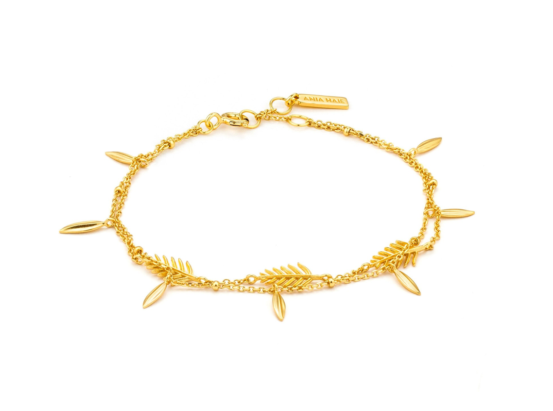 Ania Haie Tropical Double Gold Bracelet