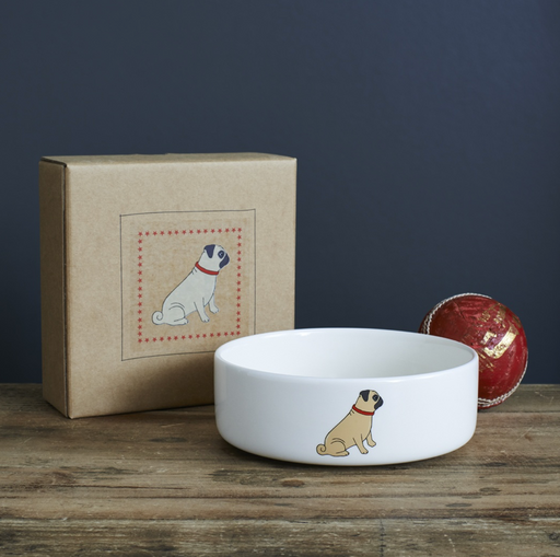 Sweet William Pug Dog Bowl