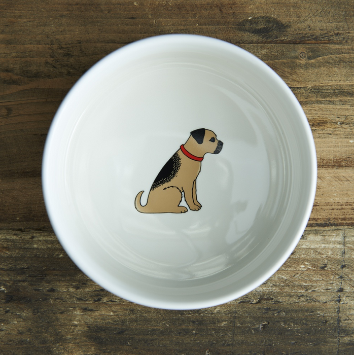 Sweet William Border Terrier Dog Bowl