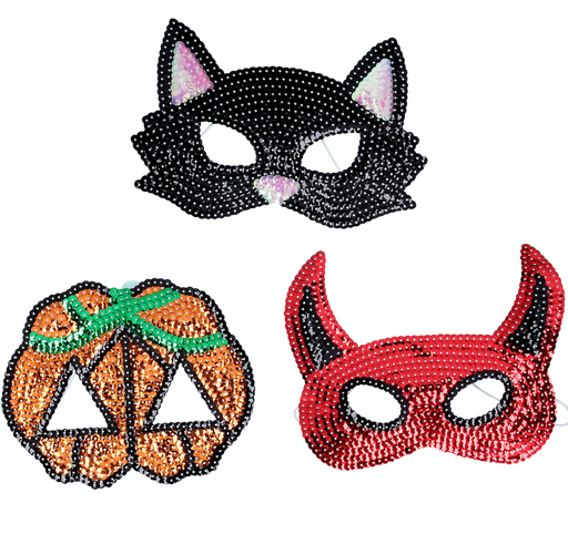 Gisela Graham Sequin Halloween Masks