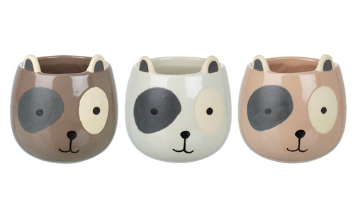 Ceramic Dog Plant Pot