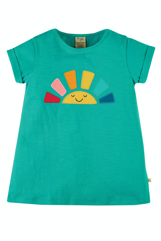 Frugi Jewel (Slub)/Rainbow Lizzie Applique Slub Top