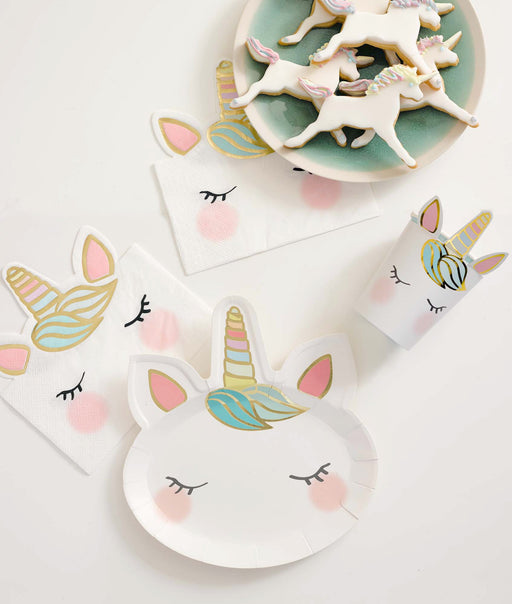 Talking Tables We Heart Unicorns Face Plates - 8 Pack