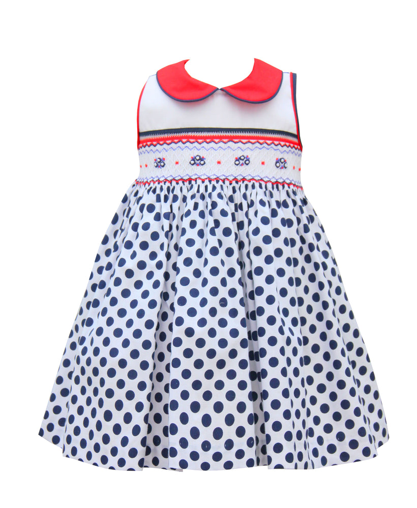 Pretty Originals Blue & White Spot Dress