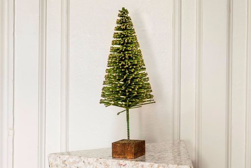 Gold and Green Sparkly Christmas Tree