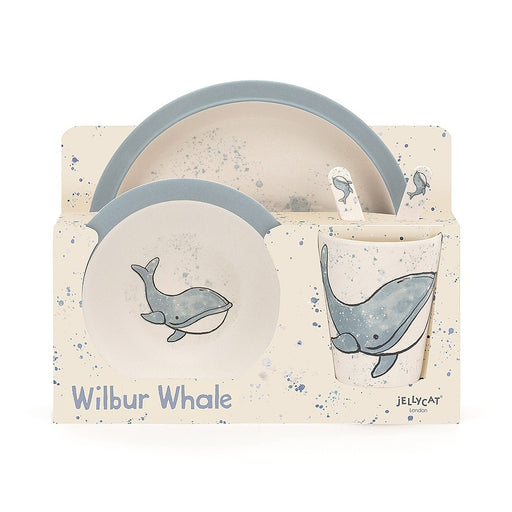 Jellycat Wilbur Whale Bamboo Set