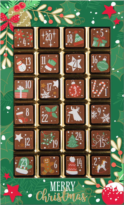 Decorated Solid Milk Chocolate Advent Calendar