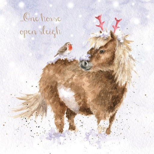 Wrendale 'One Horse open Sleigh' Christmas Card