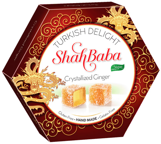 Ginger Turkish Delight Hex Box 250g