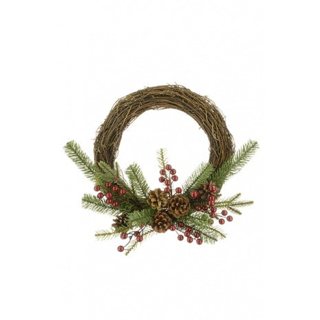 Christmas Arlington Natural Semi-Wreath