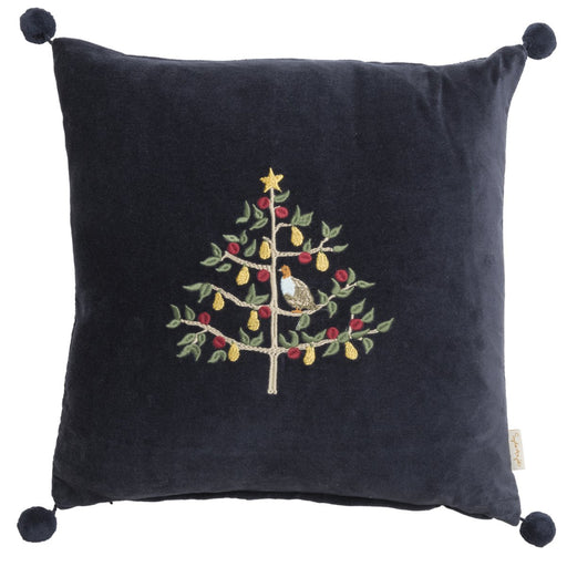 Sophie Allport Partridge Embroidered Cushion