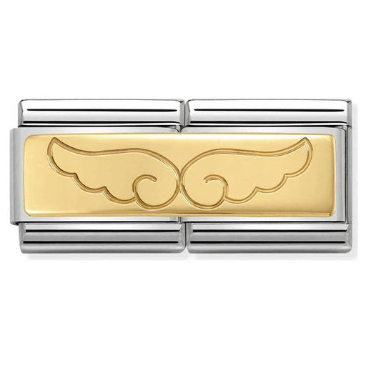 Nomination Classic Gold Double Charm - Angel Wings