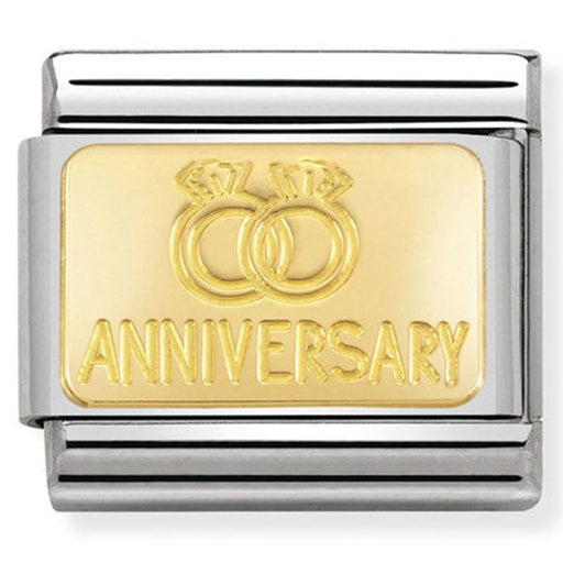 Nomination Classic Gold Charm - Anniversary with Rings