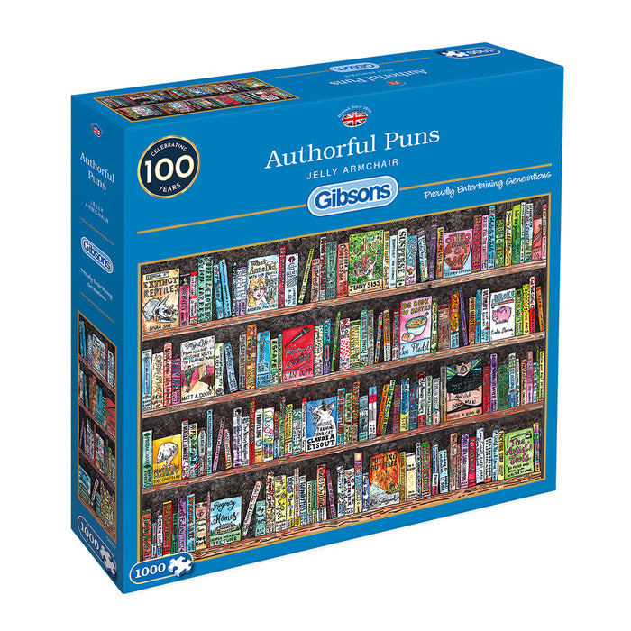 Gibsons Authorful Puns 1000pc Jigsaw Puzzle