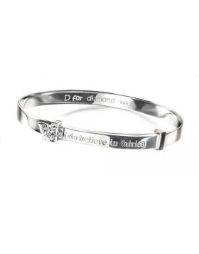 D For Diamond Believe In Fairies Bangle