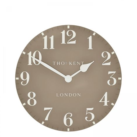 "Thomas Kent 12"" Arabic Clay Small Wall Clock"