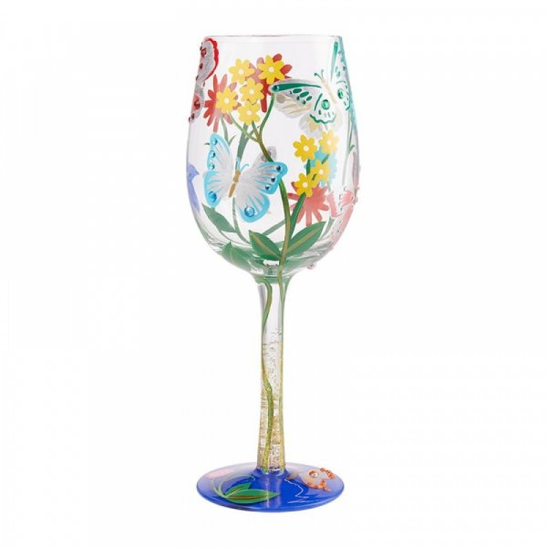 Lolita Bejeweled Butterfly Wine Glass